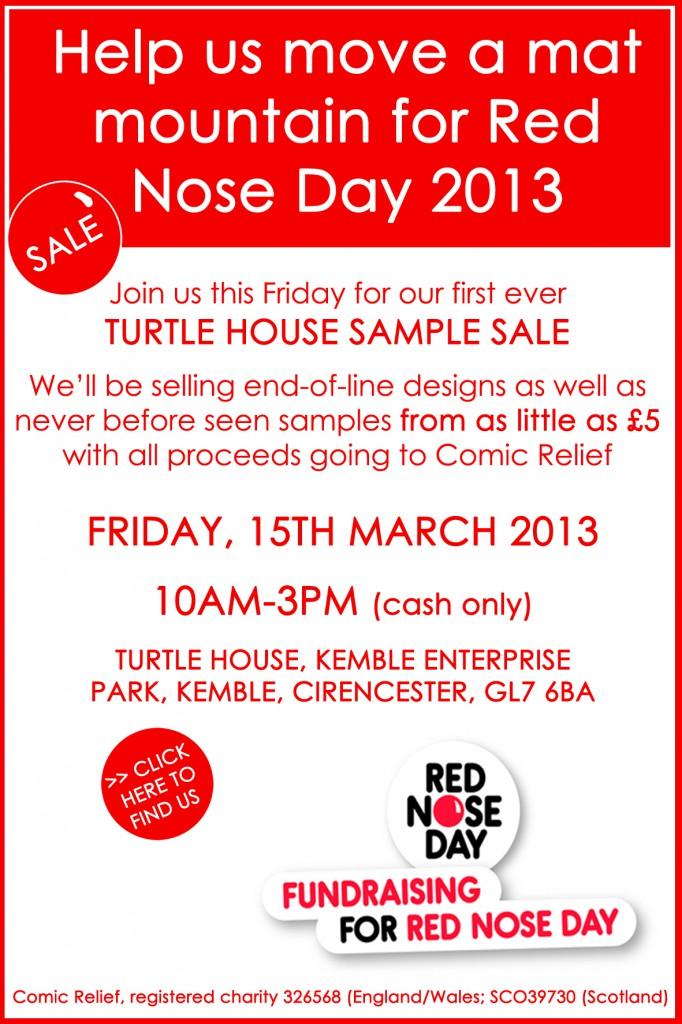 Turtle Mat Comic Relief Sample Sale