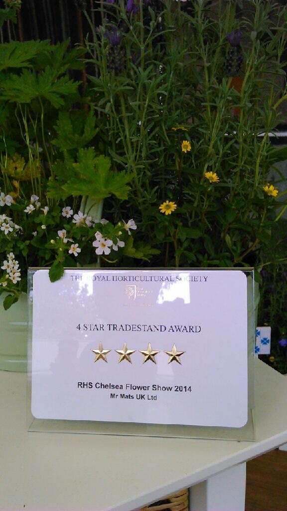 Turtle Mat Chelsea Flower Show Award 2014