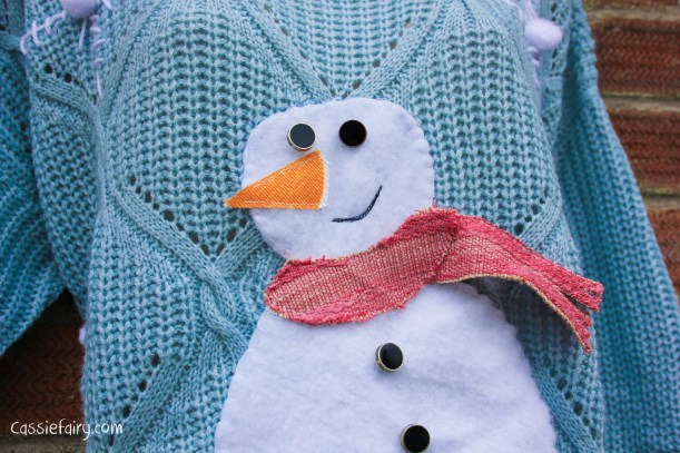 DIY-christmas-jumper-festive-snowman