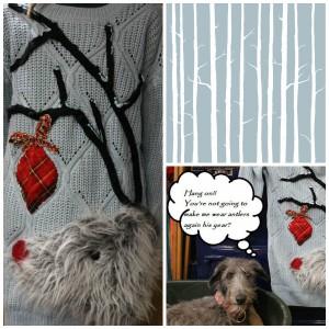 Fluffy Reindeer DIY Christmas Jumper