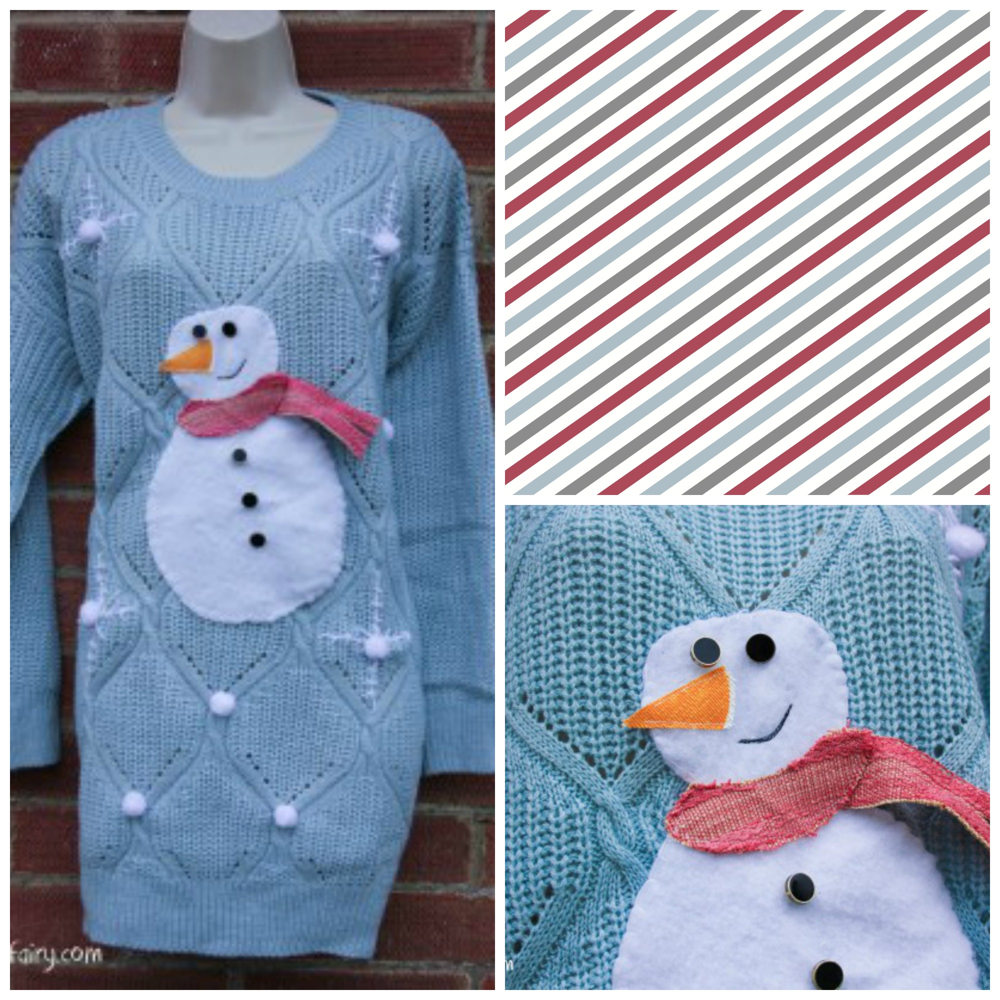 8 Thrifty Diy Christmas Jumpers The Turtle Mat Blog For