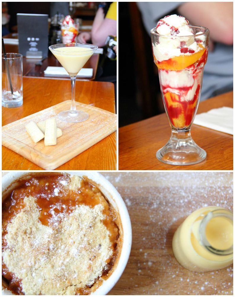 Desserts at the Brown Cow Bingley
