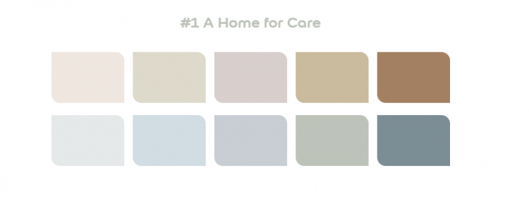 Dulux 2020 Palette 1 - A Home for Care