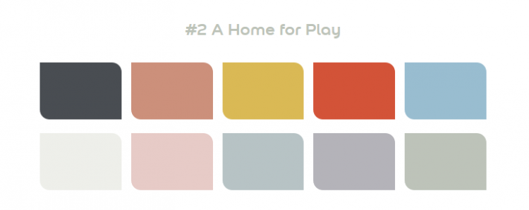 Dulux 2020 Palette 2 - A Home for Play