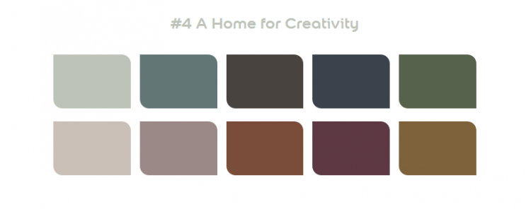 Dulux 2020 Palette 4 - A Home for Creativity