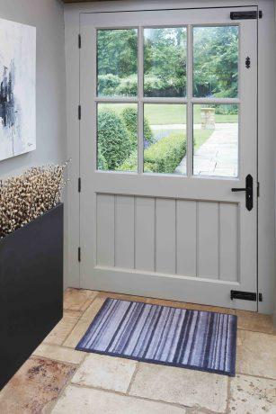 Slate Stripe Turtle Mat dirt-trapping doormat