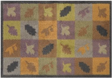 Autumn Squares and Leaves