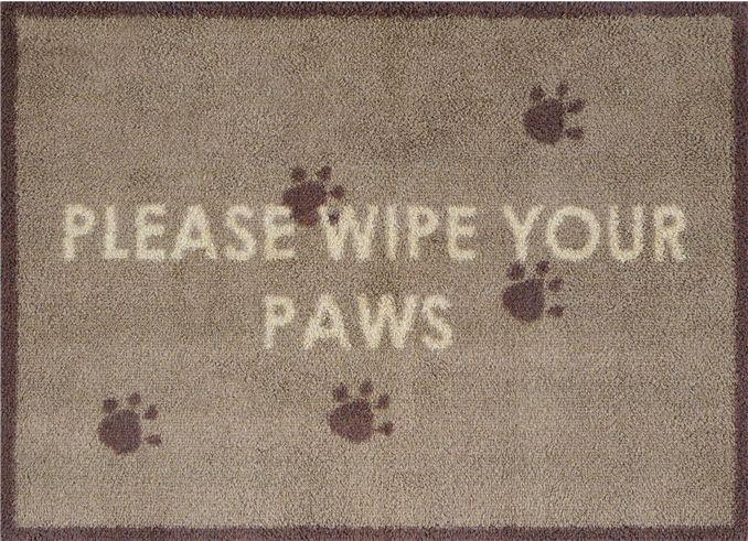 Wipe Your Paws - Brown
